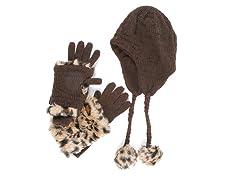 MUK LUKS® Women's Java Pom Hat 3-in-1, Brown