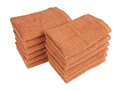 100% Organic Pebble 12-Pack Wash Cloths- 3 Colors