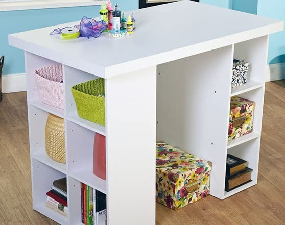 Counter Height Craft Table - 2 Colors - Home.Woot