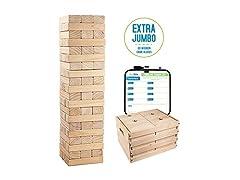 Extra Jumbo Wooden Blocks Game, 60 Piece