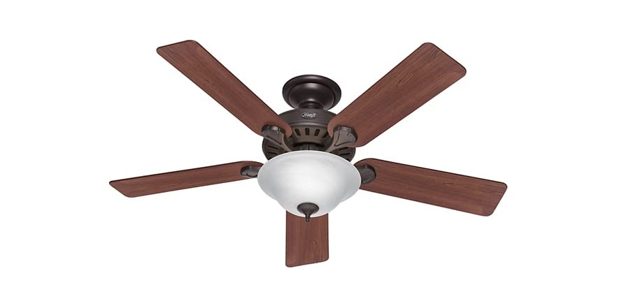 8 In 5 Blade Fan : Inch ceiling fan w oak finish blades