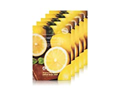 Lemon Facial Sheet Mask - 5 Pack