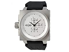 White Dial with Black Band