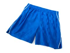 Youth Solid Royal Shorts with Piping