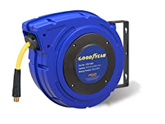 "Goodyear 3/8"" x 50' Hybrid Air Hose Reel"