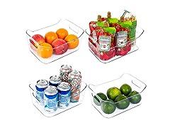 Vtopmart Refrigerator Organizer Bins 4-Pack