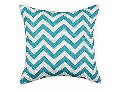 Zig Zag Turquoise 17X17 Pillow