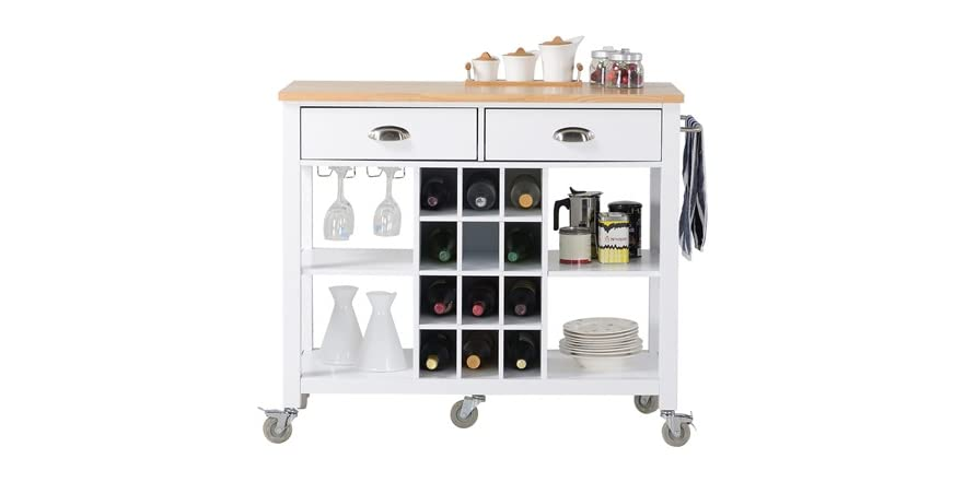 amazon kitchen island cart wide kitchen island cart 2 colors 4032
