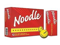 TaylorMade Noodle Long Golf Ball 12pk, Yellow
