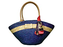 Straw Bag, Blue