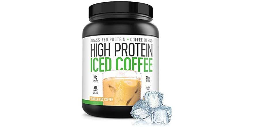 Protein Coffee Iced Coffee, High Protein Coffee, Protein Coffee, Keto Friendly, 18g of Protein, 2g Carbs, All Natural (18 Servings, Vanilla Iced Coffee) | WOOT