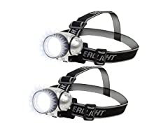 7-LED Adjustable Headlamp, 2-Pack
