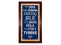 "New Orleans Pelicans 16"" x 32"" Sign"