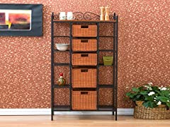 """Manilla"" 5 Drawer Baker's Rack"
