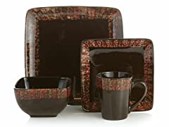 Sedona Flame 16-Piece Dinnerware Set