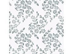 Teal Pomfret Peel & Stick Wallpaper