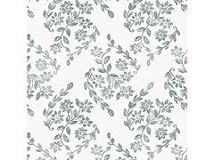 Teal Pomfret Peel & Stick Wallpaper