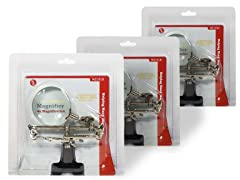 Helping Hand with Magnifying Glass, 3-Pack