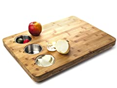Core Bamboo Butcher Block with Prep Bowls