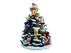 Holiday Cats Lighted Tree Figurine