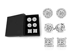 Set of 3 Swarovski Crystal Round Studs Set
