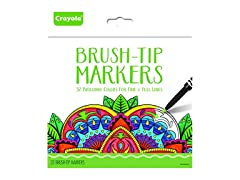Crayola Brush Tip Markers, 32 Count