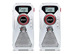 Eton Weather Radio with USB Charger (2-Pack)
