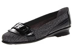 Aerosoles Raspberry Flat, Black Silver