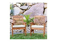 Walker Edison Acacia Chairs, Set of 2