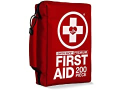 Swiss Safe First Aid & Survival Kit (200-Piece)
