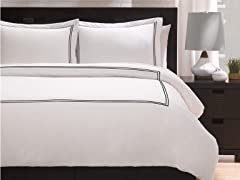 Satin Stitched 100% Cotton Duvet Set
