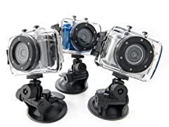 Gear Pro 720p Sport Action Cam- 5 Colors