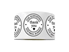 """2"""" Round Thank You Stickers"""