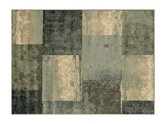 Green/Blue Griffin Geometric Rug 4-Sizes