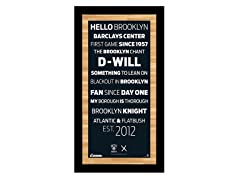 "Brooklyn Nets 9.5"" x 19"" w/Game-Used Net"