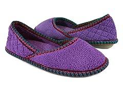 Muk Luks Beverly Micro Chenille Slip-ons, Purple