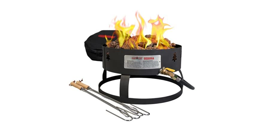Camp Chef Sequoia Fire Pit W Carry Bag Black