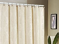 Parson Jacquard Shower Curtain-4 Colors