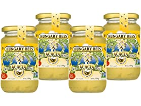 4 Pk Hungary Bees Acacia Honey