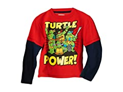 TMNT Long Sleeve Tee - Red (2T-3T)