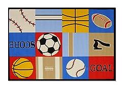 Ball Games Multi Rug