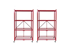 4 Tier Steel Collapsible Storage Racks