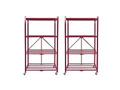 4 Tier Steel Collapsible Storage Racks