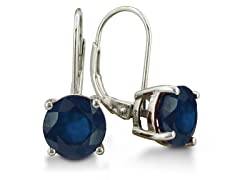 5ct Sapphire Leverback Earrings in Sterling Silver