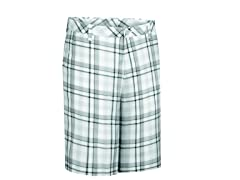 Madras Plaid Flat Shorts - Pebble/Ash