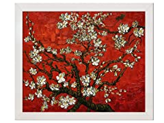 Van Gogh - Almond Tree in Blossom (Red): 24X20