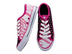 Zany Zebra Lace-up - Women (7-10)