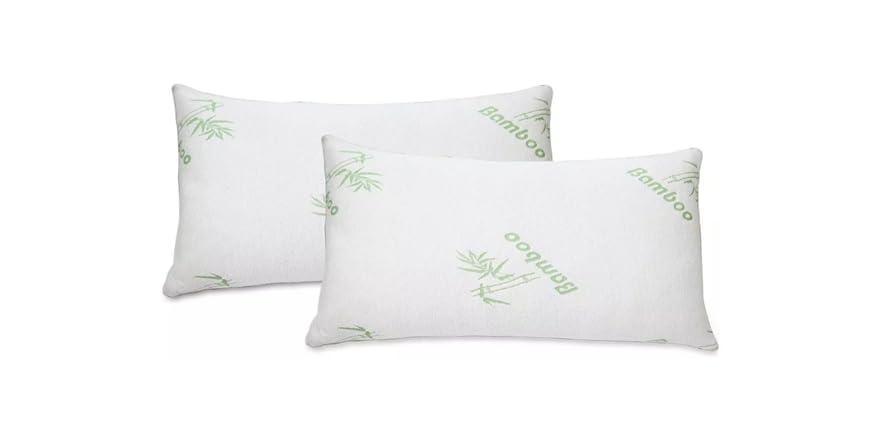 Bella Home Bamboo Memory Foam Pillow (1 or 2 Pack)   WOOT
