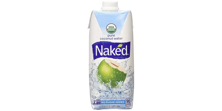 Naked Organic Pure Coconut Water, 33.8 Fl. Oz. - Walmart.com