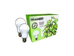 Miracle LED 100W Spectrum Grow Light, 2pk